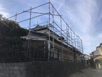 外壁・屋根・付帯部の塗装工事に伴う仮設足場の組み立て|千葉県船橋市のU様邸にて足場工事