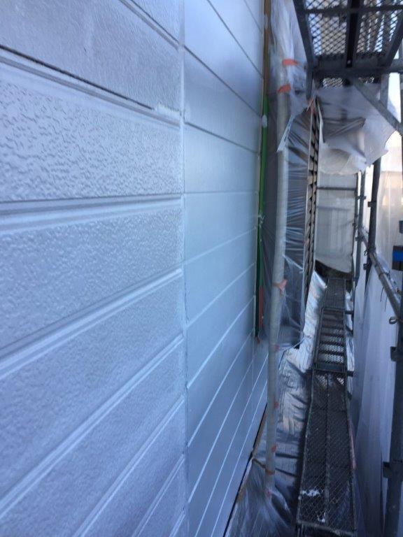 劣化した外壁の補修後