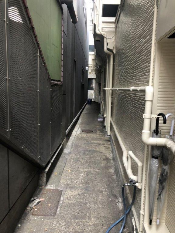 犬走りのコンクリート打設前