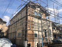 外壁・屋根・付帯部の塗装工事に伴う仮設足場の組み立て|千葉県習志野市のM様邸にて足場工事