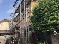 外壁・屋根・付帯部の塗装工事に伴う仮設足場の組み立て|千葉県習志野市のA様邸にて足場工事