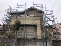 外壁・屋根・付帯部の塗装工事に伴う仮設足場の組み立て|千葉県成田市のN様邸にて足場工事