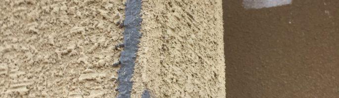 外壁のクラック(ひび割れ)補修工事|千葉県成田市のN様邸にて塗り替え塗装中