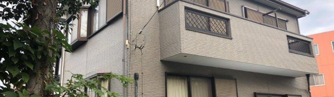 外壁塗装に伴う現場調査 千葉市中央区のE様邸にてお見積り