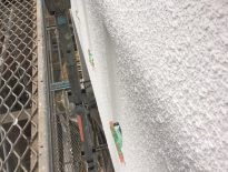 モルタル外壁の模様(パターン)付塗装 千葉県船橋市のM様邸にて塗り替えリフォーム中
