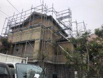 塗装工事に伴う仮設足場の組み立て|千葉県成田市のH様邸にて足場工事